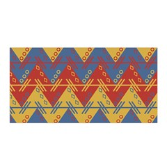 Aztec South American Pattern Zig Zag Satin Wrap by Nexatart