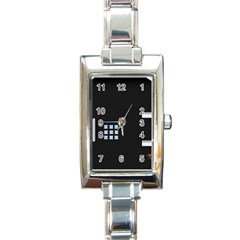 Safe Vault Strong Box Lock Safety Rectangle Italian Charm Watch by Nexatart
