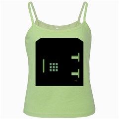 Safe Vault Strong Box Lock Safety Green Spaghetti Tank
