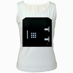 Safe Vault Strong Box Lock Safety Women s White Tank Top