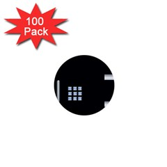 Safe Vault Strong Box Lock Safety 1  Mini Buttons (100 Pack)  by Nexatart