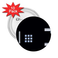 Safe Vault Strong Box Lock Safety 2 25  Buttons (10 Pack)  by Nexatart
