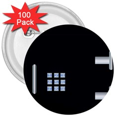Safe Vault Strong Box Lock Safety 3  Buttons (100 Pack)  by Nexatart