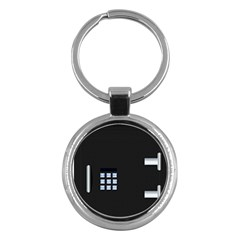 Safe Vault Strong Box Lock Safety Key Chains (round)