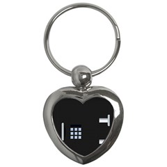 Safe Vault Strong Box Lock Safety Key Chains (heart)  by Nexatart