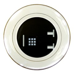 Safe Vault Strong Box Lock Safety Porcelain Plates by Nexatart
