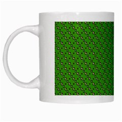Paper Pattern Green Scrapbooking White Mugs