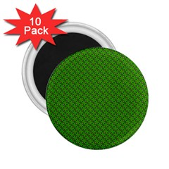 Paper Pattern Green Scrapbooking 2 25  Magnets (10 Pack)