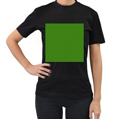 Paper Pattern Green Scrapbooking Women s T Shirt (black) (two Sided)