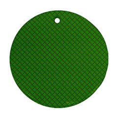 Paper Pattern Green Scrapbooking Round Ornament (two Sides) by Nexatart
