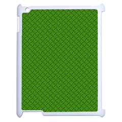Paper Pattern Green Scrapbooking Apple Ipad 2 Case (white) by Nexatart