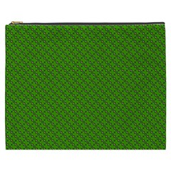Paper Pattern Green Scrapbooking Cosmetic Bag (xxxl)  by Nexatart