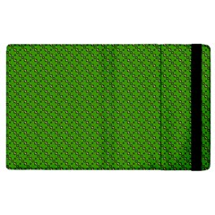 Paper Pattern Green Scrapbooking Apple Ipad 3/4 Flip Case