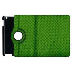 Paper Pattern Green Scrapbooking Apple Ipad 2 Flip 360 Case by Nexatart