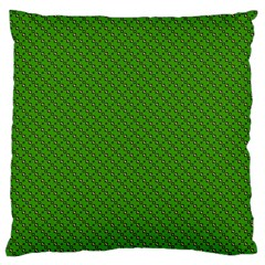 Paper Pattern Green Scrapbooking Large Flano Cushion Case (two Sides) by Nexatart