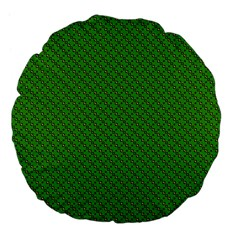 Paper Pattern Green Scrapbooking Large 18  Premium Flano Round Cushions by Nexatart