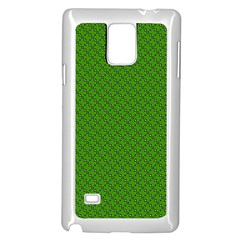 Paper Pattern Green Scrapbooking Samsung Galaxy Note 4 Case (white)