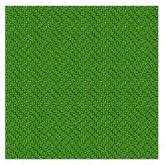 Paper Pattern Green Scrapbooking Large Satin Scarf (square)