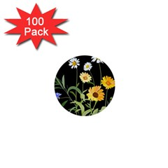 Flowers Of The Field 1  Mini Buttons (100 Pack)
