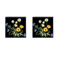 Flowers Of The Field Cufflinks (square) by Nexatart