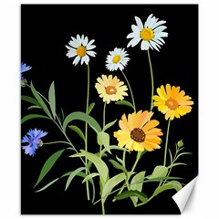 Flowers Of The Field Canvas 8  X 10