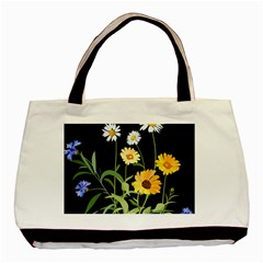 Flowers Of The Field Basic Tote Bag (two Sides)