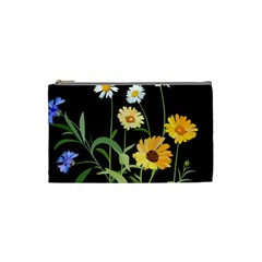 Flowers Of The Field Cosmetic Bag (small)  by Nexatart