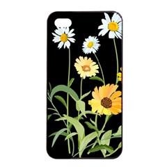 Flowers Of The Field Apple Iphone 4/4s Seamless Case (black)