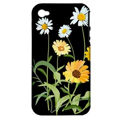 Flowers Of The Field Apple Iphone 4/4s Hardshell Case (pc+silicone)