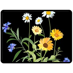 Flowers Of The Field Double Sided Fleece Blanket (large)  by Nexatart