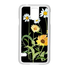 Flowers Of The Field Samsung Galaxy S5 Case (white) by Nexatart