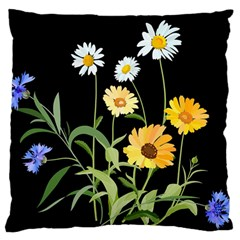 Flowers Of The Field Large Flano Cushion Case (one Side)