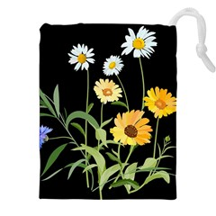 Flowers Of The Field Drawstring Pouches (xxl) by Nexatart