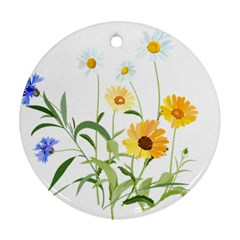 Flowers Flower Of The Field Ornament (round)
