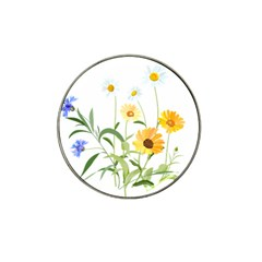 Flowers Flower Of The Field Hat Clip Ball Marker (4 Pack) by Nexatart