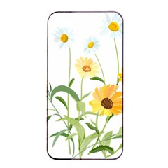 Flowers Flower Of The Field Apple Iphone 4/4s Seamless Case (black) by Nexatart