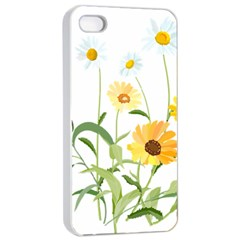 Flowers Flower Of The Field Apple Iphone 4/4s Seamless Case (white)