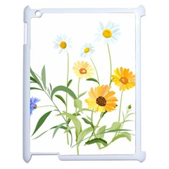 Flowers Flower Of The Field Apple Ipad 2 Case (white) by Nexatart