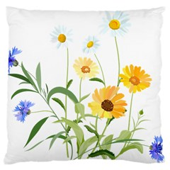Flowers Flower Of The Field Large Cushion Case (one Side)