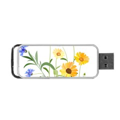 Flowers Flower Of The Field Portable Usb Flash (one Side)