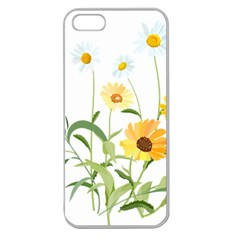 Flowers Flower Of The Field Apple Seamless Iphone 5 Case (clear)