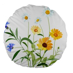 Flowers Flower Of The Field Large 18  Premium Round Cushions