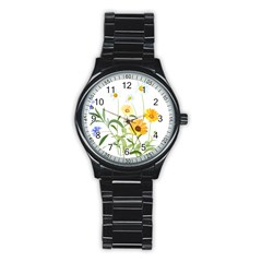 Flowers Flower Of The Field Stainless Steel Round Watch