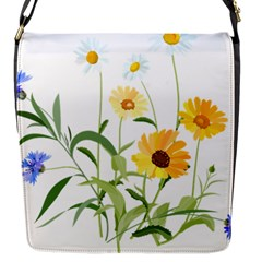 Flowers Flower Of The Field Flap Messenger Bag (s) by Nexatart