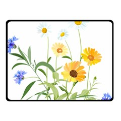 Flowers Flower Of The Field Double Sided Fleece Blanket (small)
