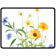 Flowers Flower Of The Field Double Sided Fleece Blanket (large)