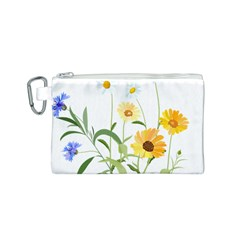 Flowers Flower Of The Field Canvas Cosmetic Bag (s) by Nexatart