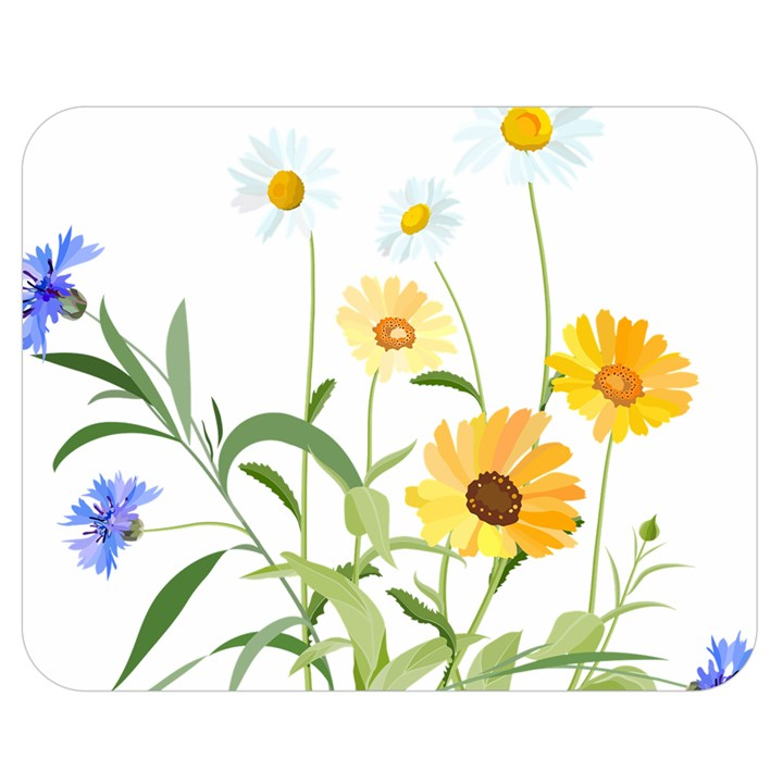 Flowers Flower Of The Field Double Sided Flano Blanket (Medium)