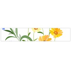 Flowers Flower Of The Field Flano Scarf (large)