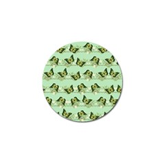 Green Butterflies Golf Ball Marker (4 Pack) by linceazul